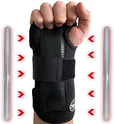 Handbandage Sehnenscheidenentzündung Rechts, Large Handgelenkstütze Arthritis Schmerzlinderung Handgelenkschiene, Arthrose Karpaltunnelsyndrom Handschiene für Männer und Frauen Sport (Rechts-1 Stück)