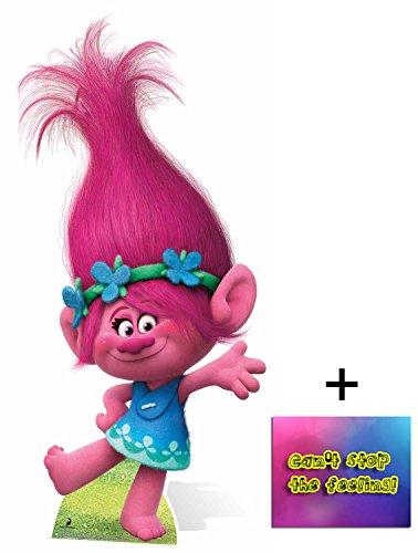 Fan Pack - Princess Poppy from Trolls Cardboard Cutout / Standee / Standup - Includes 8x10 Star Photo