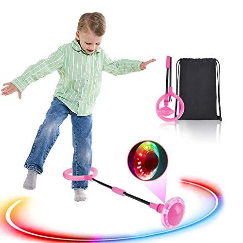 Boyigog Bola de Salto de Tobillo, LED Swing Bolas, Balones Saltadores, Aro...