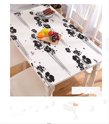 Mantel protector de mesa de PVC con impresión transparente, cuadrado, para casa, cocina, restaurante, boda, 90 x 140 cm