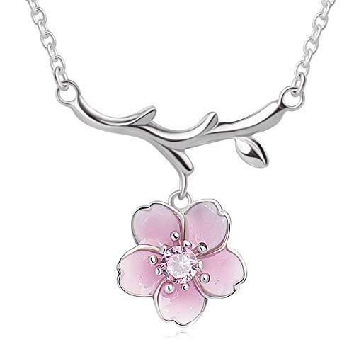 PIRATESHIP ネックレス レディース 人気 桜さくら アクセサリー シルバー925純銀 金属アレルギー対応 女性 プレゼント 誕生日 ギフトラッピング