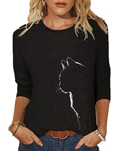 x8jdieu3 Spring Creative Love Stampa Stampa E Tintura Cuciture T-Shirt Casual Urbana A Maniche Lunghe Girocollo Allentato Spot Femminile