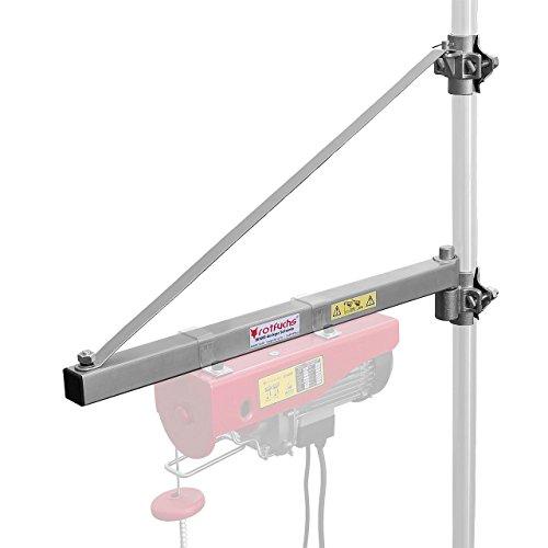 Rotfuchs Ausleger Schwenkarm 750 mm für Seilwinde Seilhebezug Seilzug Last 600 kg, Schwenkbereich ca. 180° max. Ausladung: ca. 750 mm