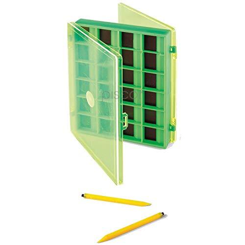 Lineaeffe Boîte Aimantée 10.5 x 14.5 x 2 cm Big Boîte de Pêche Rangement Accessoire Leurre Hameçon Compartiment Plastique