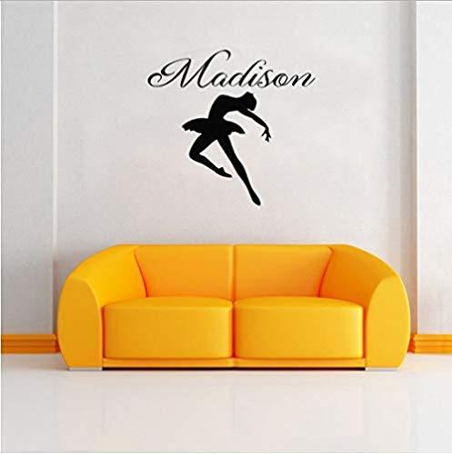 CQAZX Vinyl Wandaufkleber Ballerina Herz Romantische Aufkleber DIY Dekoration Kunst Wandbilder Schlafzimmer Küche Wohnzimmer Kinder 58X54 Cm