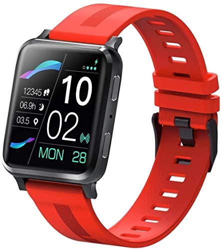 1.54 pulgadas reloj inteligente pantalla grande 24 horas detección inteligente conectado al audio auricular Bluetooth, puede hacer y recibir llamadas-rojo