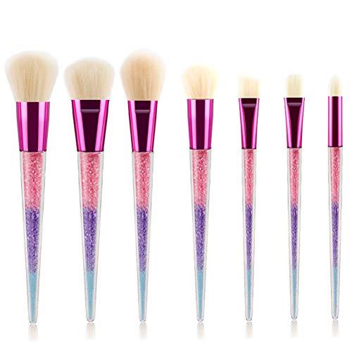Maquillage Pinceaux Set 7 Pcs Premium Synthétique Fondation Kabuki Mélange Pinceau Poudre De Blush Correcteur Ombres À Paupières Maquillage Pinceaux,C