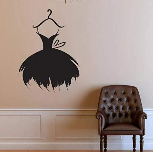 Tienda de moda Ropa Etiqueta de la pared Vinilo Decoración del hogar Calcomanías para ventanas interiores Modelo Vestido Sombrero Estilo Murales Papel tapiz extraíble 42x57cm
