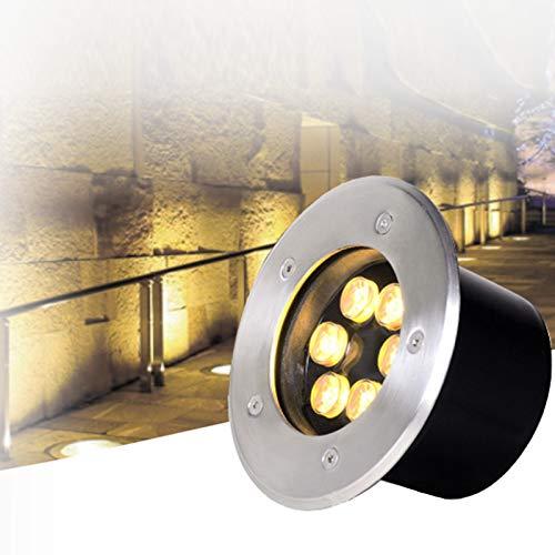 LED Foco Empotrable de Suelo, IP67 Exterior Iluminación de Caminos, Luces de Paso Al Aire Libre Luces de Cubierta, Luces Paisaje Al Aire Libre, 1-36W, CA 85-265V ( Color : Yellow light , Size : 7W )