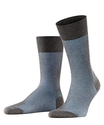 FALKE Fine Shadow M So Chaussettes, Gris (Grey-Bleue 3196), 41-42 Homme