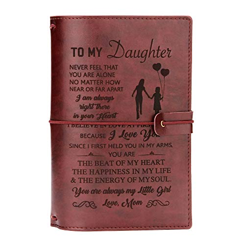FAYERXL Daughter Journal Leather From Mom-lined journal notebook inspirational,Personalized Journals...