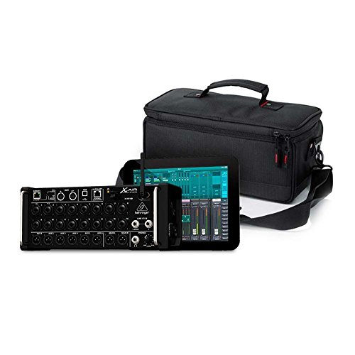 Behringer XR18 Digital Mixer and Gator Cases Padded Mixer Carry Bag; Fits Behringer X-AIR Series Mixers (G-MIXERBAG-1306)