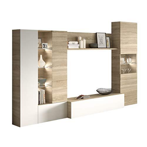 Habitdesign Mueble de Comedor con Leds, Mueble Salon, Modelo...