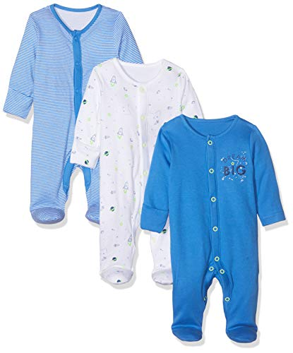 Mothercare Io B Little Space 3pk Sleeps Pijama, (Bright Blue 478), Early...