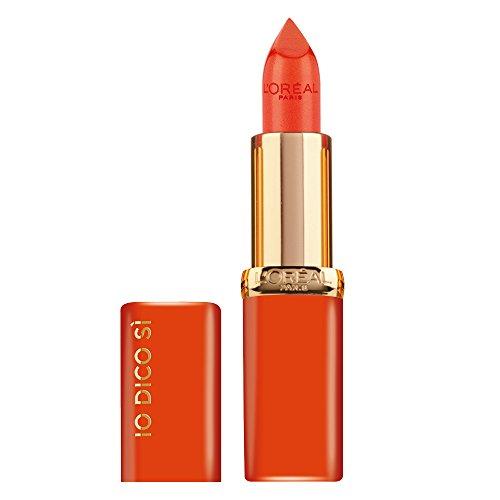 L'Oréal Paris Rossetto Lunga Durata Color Riche, Edizione Limitata, Idea Regalo Donna, Finish Satinato, IO DICO SÌ, 163 Orange Magique