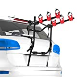 FIERYRED Trunk Mounted Bike Rack for Most Car SUV (Sedans/Hatchbacks/Minivans) 2-3 Bike Trunk Mount Bicycle Carrier Rack, AMAZON LINK COME WITH INSTALLATION MANUAL