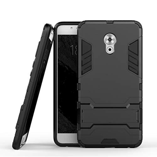 tinyue® Handyhülle für Meizu Pro 6 Plus, Hülle 2 in 1 Material Harte Schwer doppelte kratzfester Handyfall im Freienhandyfall Iron Man Rüstung mit Kickstand Hülle, Schwarz