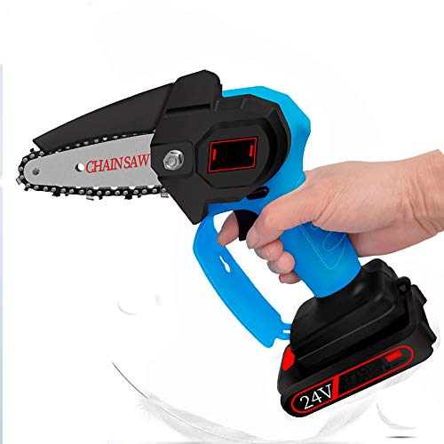 """Mini Electric Chainsaw Cordless 4"""" Small Rechargeable Handheld Electric Chain Saw 550w Lithium Battery Chainsaw Tree Pruning Saw Best Cordless Chainsaw Shears For Cutting Wood Garden Outdoor"""