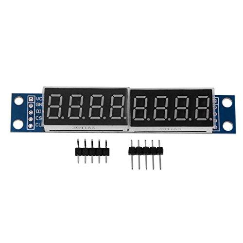 REFURBISHHOUSE MAX7219 LED Dot Matrix 8 digitos Digital Mostrar modulo DC 5V de para Arduino