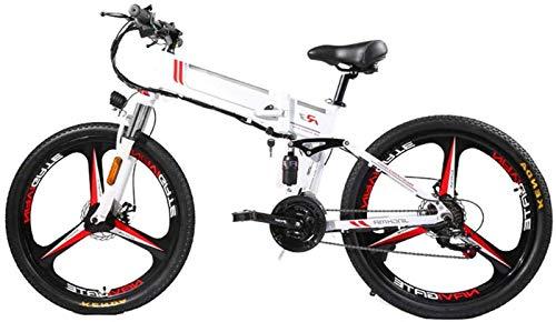 Bicicletas, bicicleta eléctrica plegable para adultos, tres modos de asistencia para montar, bicicleta eléctrica, bicicleta eléctrica de montaña, motor de 350 W, pantalla LED, bicicleta eléctrica, bic