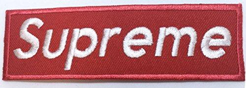 Supreme Skatboard Hip hop Punk Rock - Parche bordado para coser o planchar, color rojo