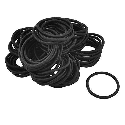 RoMote 80 Pcs Porte-bande élastique noir en caoutchouc pour cheveux Ponytail Lady