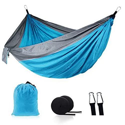 FDSJKD Ultraligero al Aire Libre Camping Nylon Hamaca Swing Swing árbol Cama jardín Patio Trasero Muebles Colgando Doble Hamaca Silla (Color : 21)