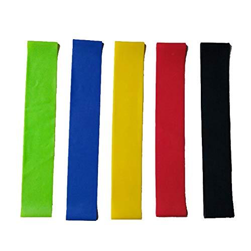 Kunyun Bandas de Resistencia de la Resistencia del Corredor portátil Elastic Sport Lamex Cinte Fitness Yoga Stretch Bands. (Color : Green)