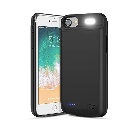 Vancely Cover Batteria per iPhone 6/6S/8/7, 6000mAh Cover Ricaricabile Custodia Batteria Cover Caricabatteria Battery Case per iPhone 6/6S/8/7 [4.7']