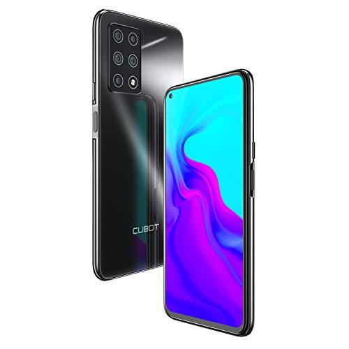 CUBOT X30 Smartphone da 6,4 pollici, 6 + 128 GB di memoria interna, Android 10, cinque fotocamere, Dual SIM, NFC, Face ID, display 1080P, batteria 4200 mAh + ricarica rapida (nero)