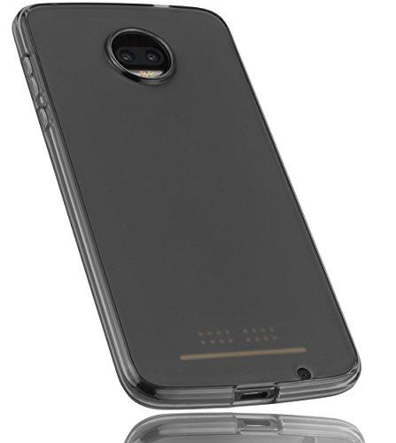 mumbi Hülle kompatibel mit Motorola Moto Z2 Force Handy Hülle Handyhülle, transparent schwarz