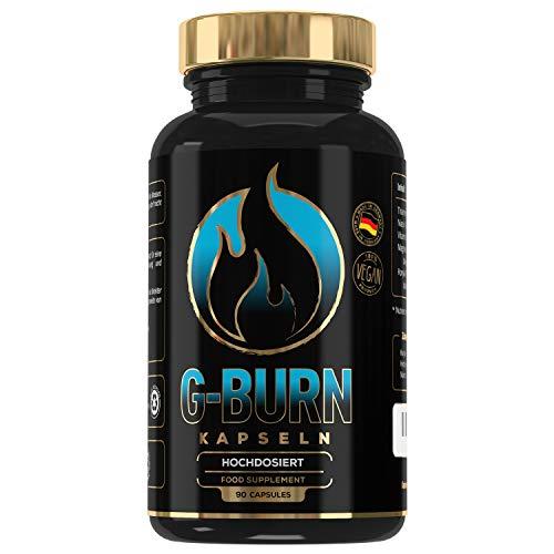 G-BURN | Abnehmen | Hochdosiert | Vitamin B3 + B6 | Magnesium | Appetitzügler | Appetithemmer | 100% Natürlich | 90 Kapseln | Made in Germany | MVN®