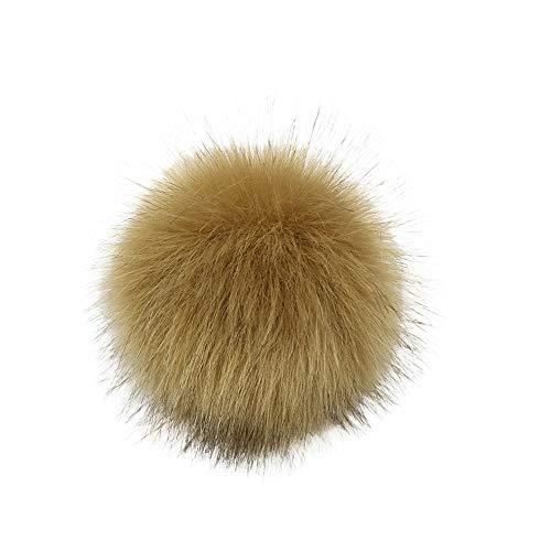 DIY Faux Fuchspelz Fluffy Pom Pom Ball zum Stricken Hüte, Taschen, Schlüsselanhänger, Schuhe, Kunstfell Bommel für Mützen und Beanies, Fake Fur, Winter Fellbommel (C, 10cm (4