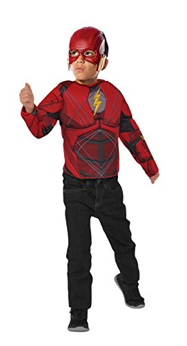 Rubies- Disfraz The Flash con pecho musculoso, Talla única (Rubie's Spain 34075)