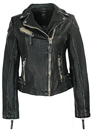 Gipsy - Damen Lederjacke Bikerjacke Lammnappa schwarz Größe L