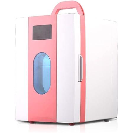 Makeup Skincare Fridge Mini Fridge of Chamber 10L Skin Care Cooler and Warmer Beauty Fridge Refrigerators Portable Drinks Fridge For Office/Bedroom/Car,Pink