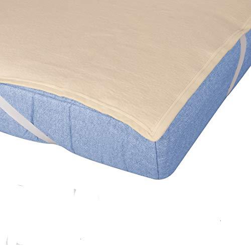 Sleepssential | Molton Matratzenschoner 180x200 cm | Matratzenauflage Made in Germany aus 100% Baumwolle | Matratzenschutz atmungsaktiv | Matratzenschonbezug aus Molton | Hohe Feuchtigskeitsaufnahme