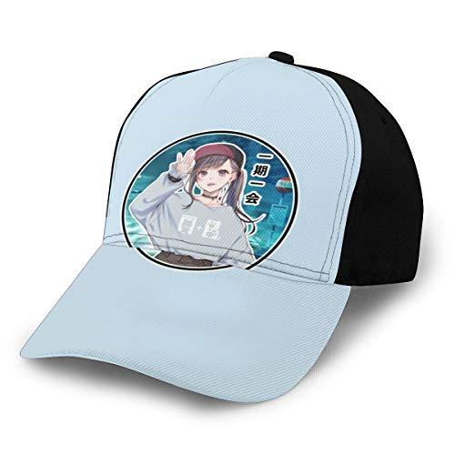 N/ Gorro de béisbol con diseño de Anime para niña, Color Negro