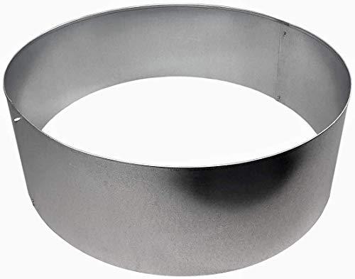 Rasenkanten Baumring Kreis aus Metall durchm. 75 cm x 25 cm - 1er Set