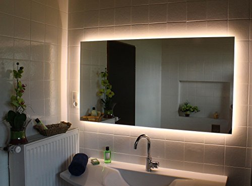Led Hinterleuchteter Badspiegel Nova Spiegel in 180 x 80 cm in 5mm Stärke mit Beleuchtung Wandspiegel Lichtspiegel