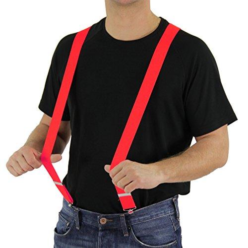 Foxxeo roter Hosenträger für Damen und Herren für Clown Kostüm Karneval und Fasching Party in rot
