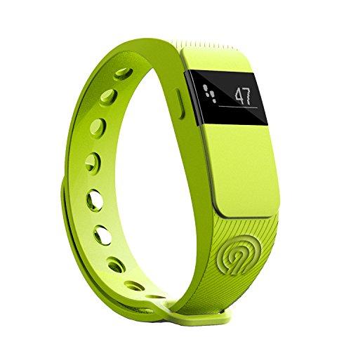 NINETEC Smartfit F2 Grün Fitness Tracker Bluetooth 4.0 Sport Armband Schrittzähler Aktivitätsarmband Fitnessarmband Sportuhr mit Schlafanalyse Kalorienanalyse SMS Anrufe