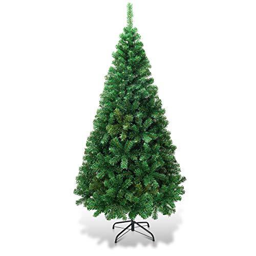 COSTWAY 150/180/210/240cm Künstlicher Weihnachtsbaum, Tannenbaum mit Metallständer, Christbaum PVC Nadeln, Kunstbaum Weihnachten ideal für Zuhause, Büro, Geschäfte und Hotels, Grün (150cm)