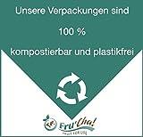 WIEDER DA!! - Fru'Cha! - BIO grüne Premium-Rosinen im Schatten getrocknet, Rohkostqualität. ohne Trennmittel - 1000g - Plastikfrei verpackt -100% kompostierbar - 5