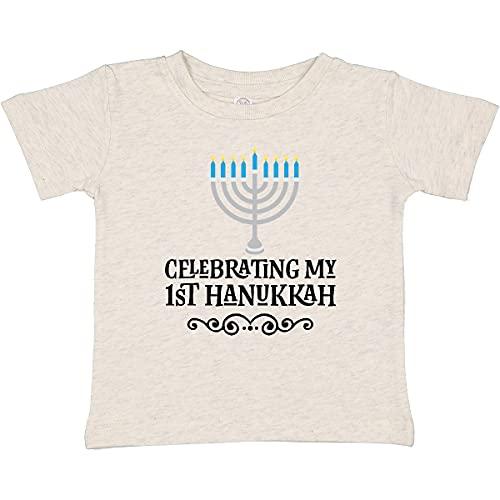inktastic My 1st Hanukkah Baby T-Shirt 6 Months Vintage Natural 2c3b3