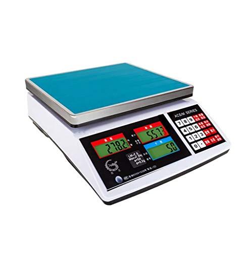 ZCY Digitale weegschaal, hoge precisie, 30 kg, industriële teller, weegschaal, super markt, verkoopprijs 1.5kg/0.05g