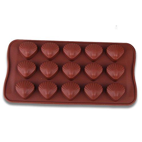 Moule de Silicone Moules à gâteaux pour la cuissonx pour la cuissonx pour la Cuisson Forme de Coquillages Moule Silicone pour Muffins, Biscuits, chocolats, glaçons Cadeaux des Enfants