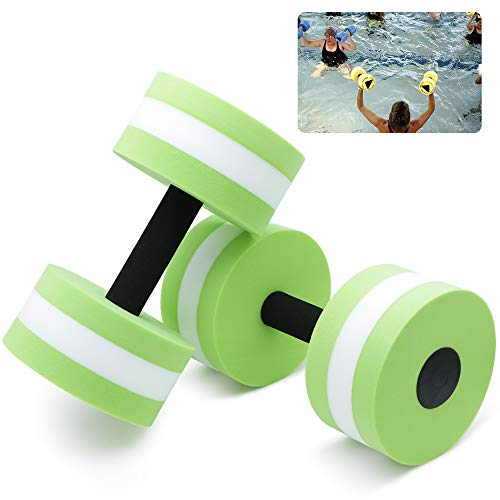 Aquatic Exercise Dumbbells – Set of 2 for Water Aerobics Fitness and Pool Exercises