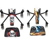 Honbobo 2 Pcs Imperméable Autocollants De Peau Coloré Décalques Couverture pour Parrot Anafi Drone, Télécommande, Batterie (Style4)