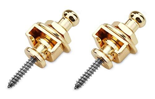 Rocktile RSL-10-GD Security Locks (2 Stück Endpin Set, inkl. Gegenstück, Steckverbindung um 360° drehbar) gold